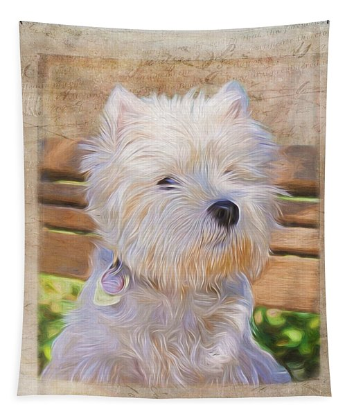 Dog Art - Just One Look Tapestry