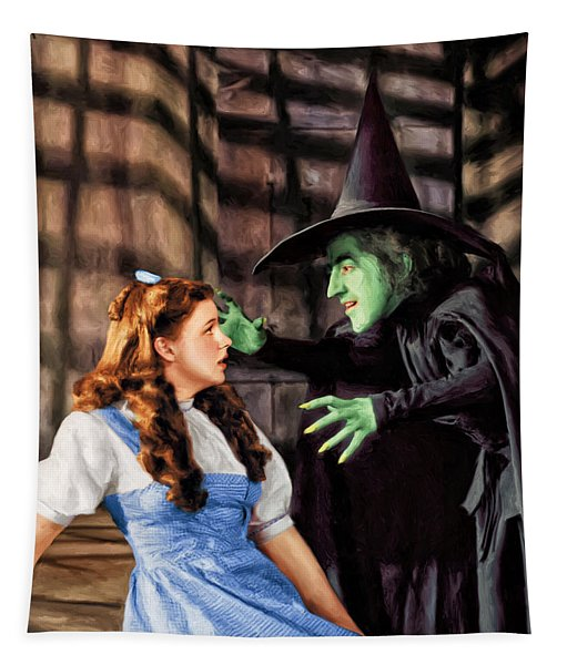 Dorothy And The Wicked Witch Tapestry