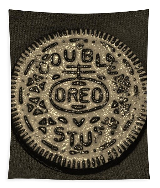 Double Stuff Oreo In Sepia Negitive Tapestry