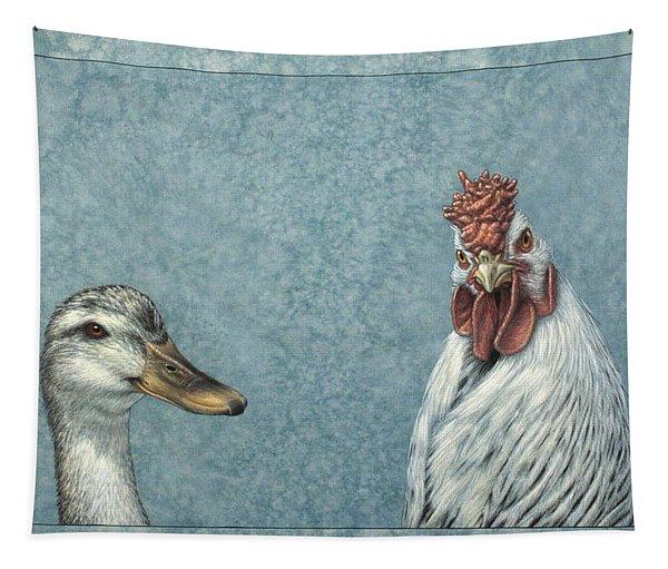 Duck Chicken Tapestry