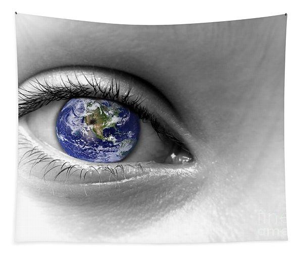 Earth Eye Tapestry
