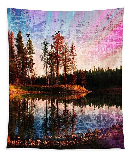 Echo Lake In Montana Tapestry