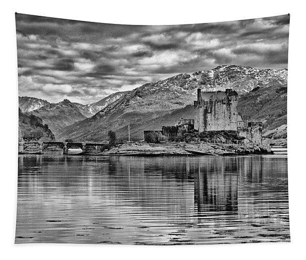 Eilean Donan - A Reflection Without Colour Tapestry