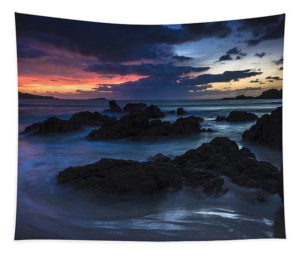 El Villar Beach Galicia Spain Tapestry