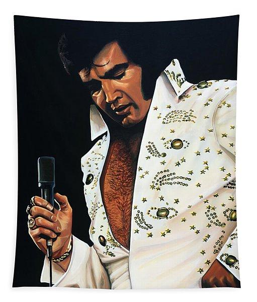 Elvis Presley Painting Tapestry