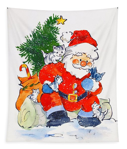 Father Christmas And Kittens, 1996  Tapestry