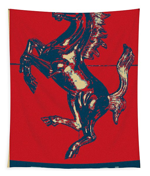 Ferrari Stallion In Hope Tapestry