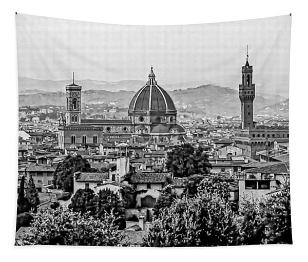 Florence Bw Tapestry