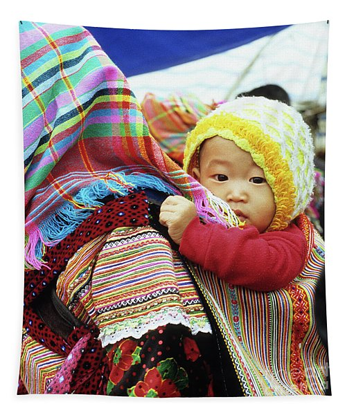 Flower Hmong Baby 04 Tapestry