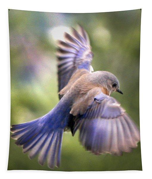 Flying Bluebird Tapestry