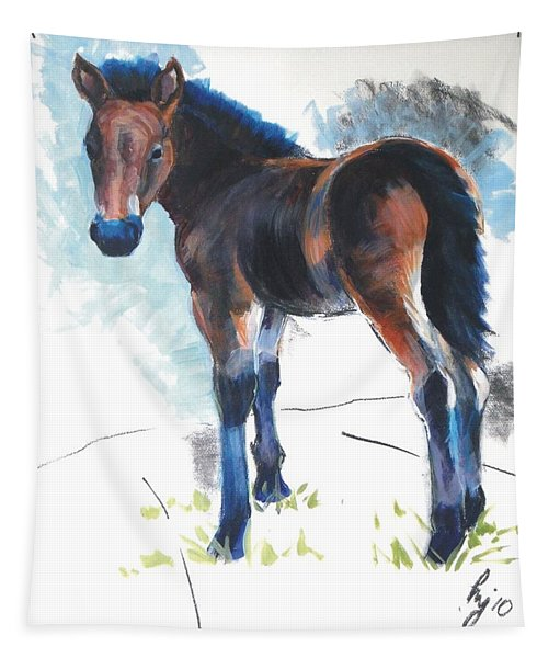 Foal Painting Tapestry