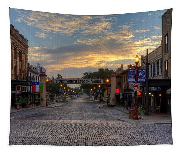 Fort Worth Stockyards Sunrise Tapestry