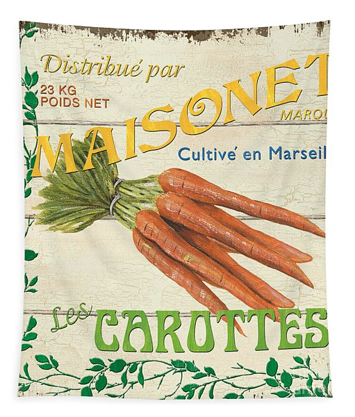 French Veggie Sign 2 Tapestry