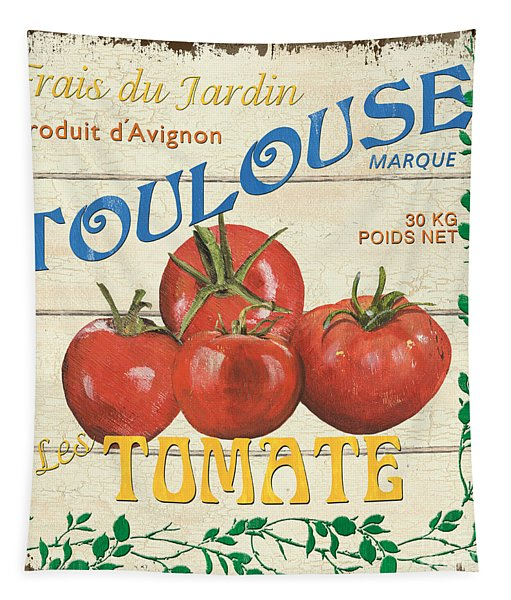 French Veggie Sign 3 Tapestry