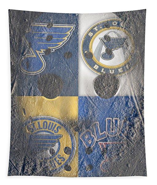 Frozen Blues Tapestry