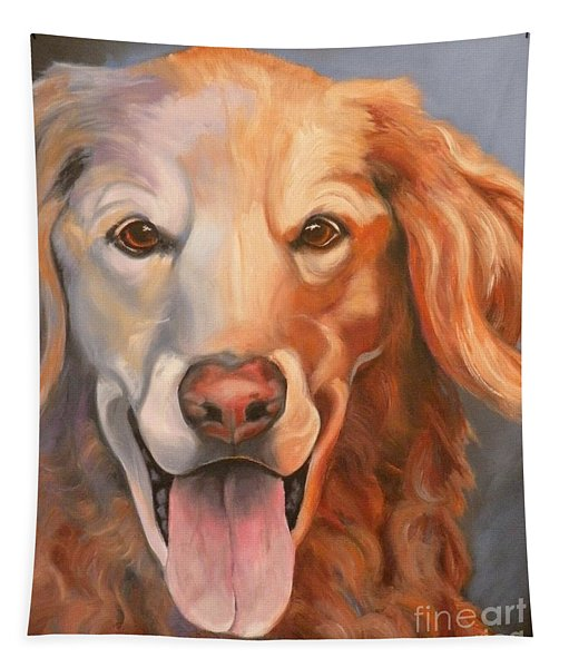 Golden Retriever Till There Was You Tapestry