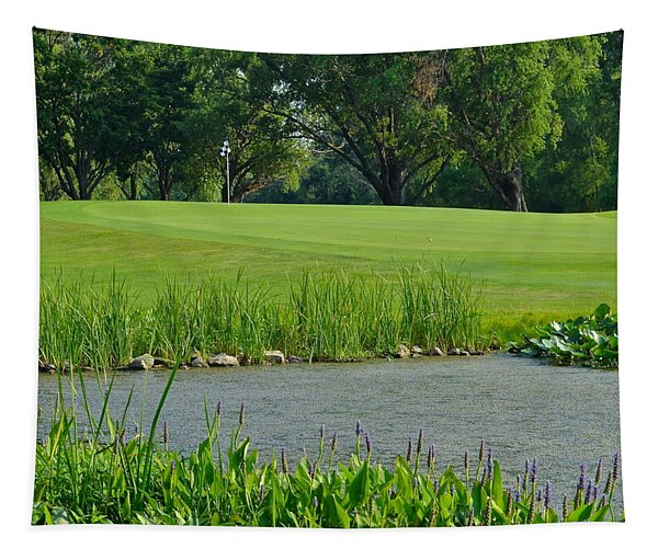 Golf Course Lay Up Tapestry