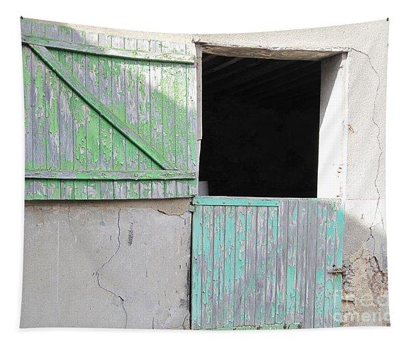 Green Stable Door Tapestry