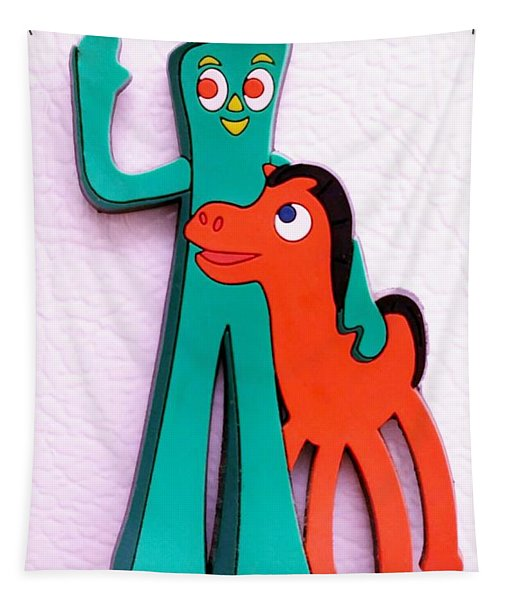 Gumby And Pokey B F F Tapestry