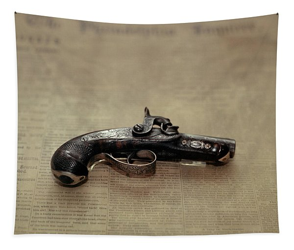 Gun Used By John Wilkes Booth Tapestry