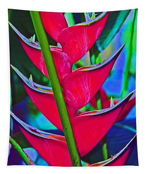 Heliconia Abstract Tapestry
