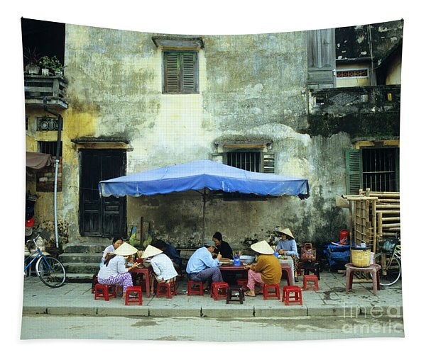 Hoi An Noodle Stall 02 Tapestry