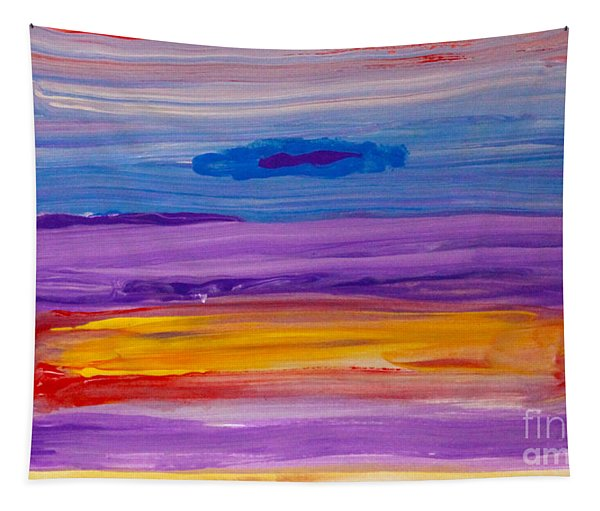 Horizontal Landscape After Rothko Tapestry