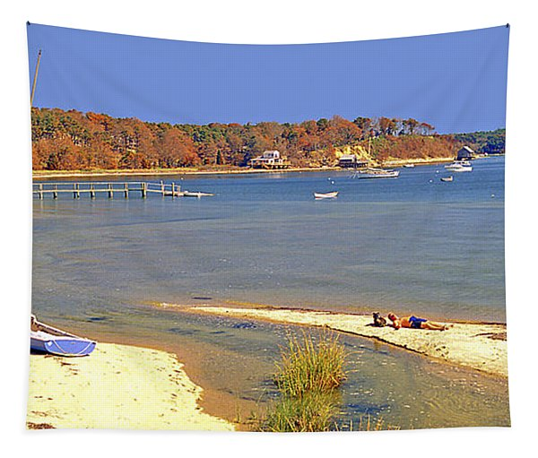 Indian Summer Afternoon Pleasant Bay Cape Cod Massachusetts Tapestry