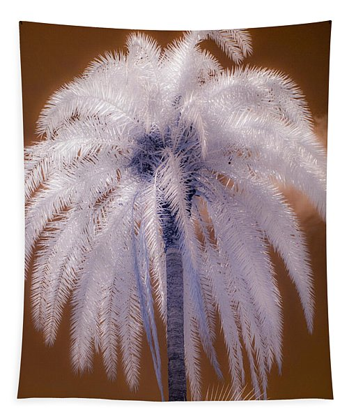 Infrared Palm Tree Tapestry