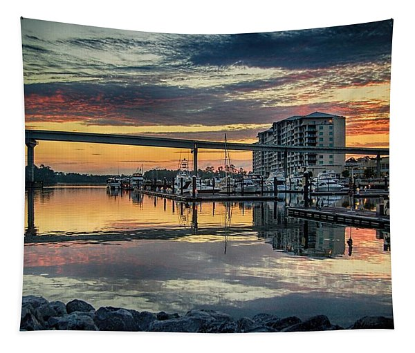 Intercoastal Waterway And The Wharf Tapestry