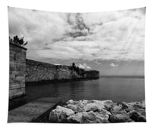 Island Fortress  Tapestry
