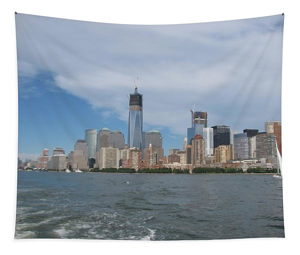 Jersey City And Hudson River Tapestry
