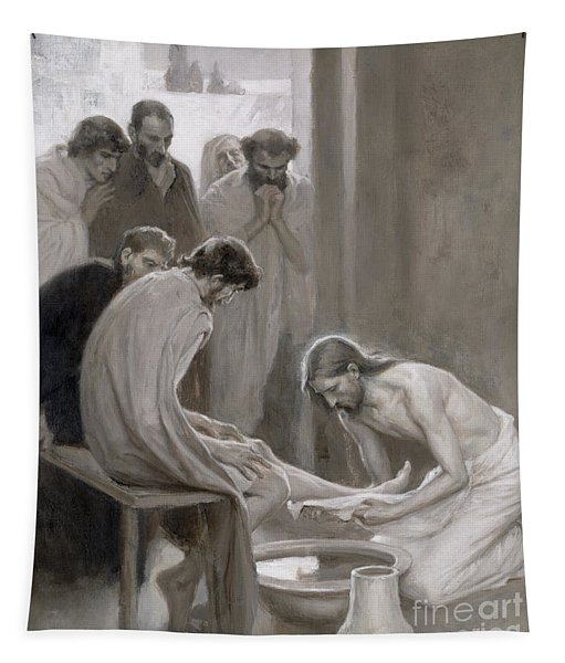 Jesus Washing The Feet Of His Disciples Tapestry