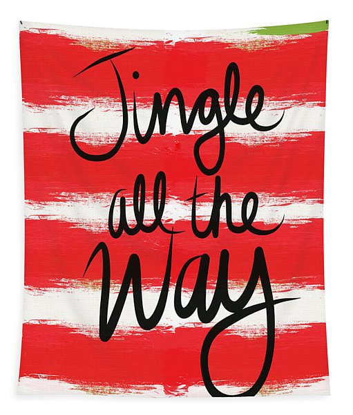 Jingle All The Way- Greeting Card Tapestry