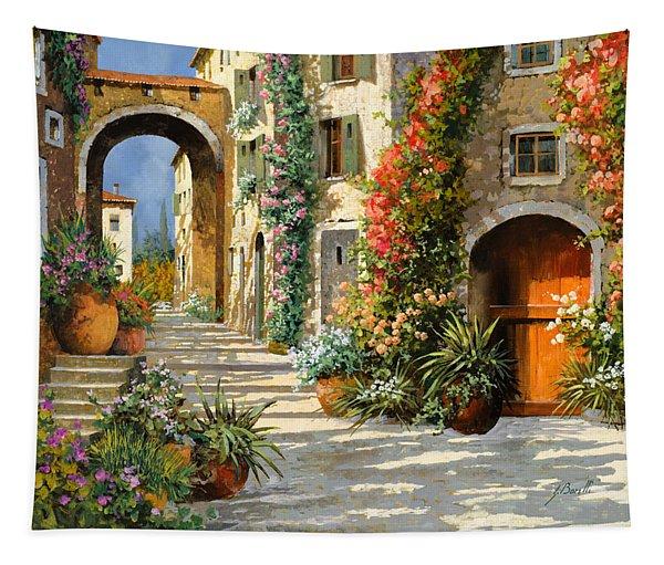 La Porta Rossa Sulla Salita Tapestry
