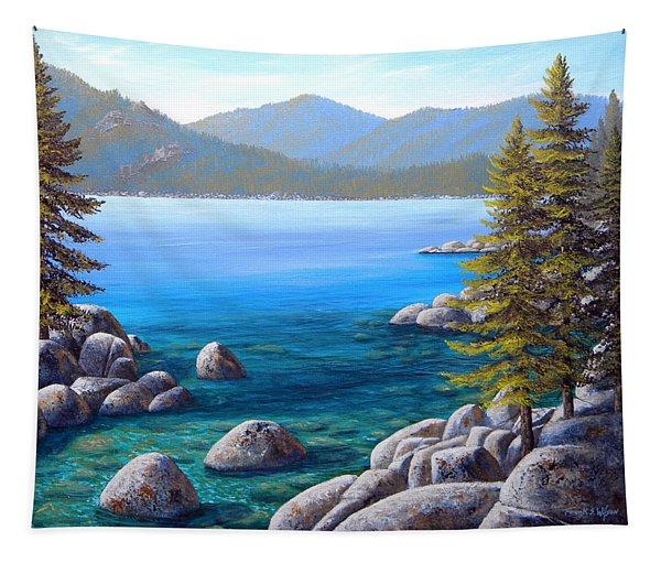 Lake Tahoe Inlet Tapestry