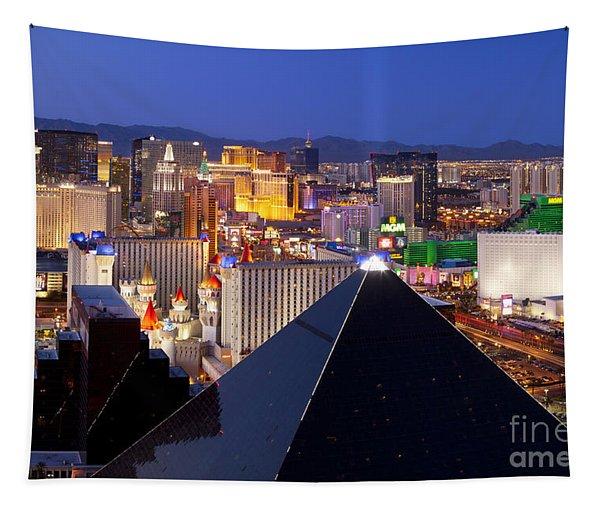 Las Vegas Skyline Tapestry