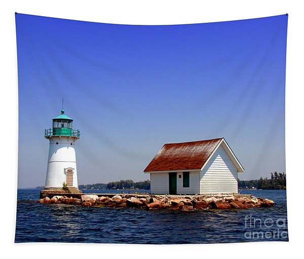 Lighthouse On The St Lawrence River Tapestry