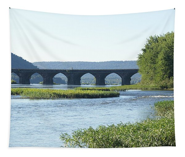 looking north at the Rockville Bridge   # Tapestry
