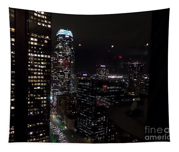 Los Angeles Nightscape Tapestry