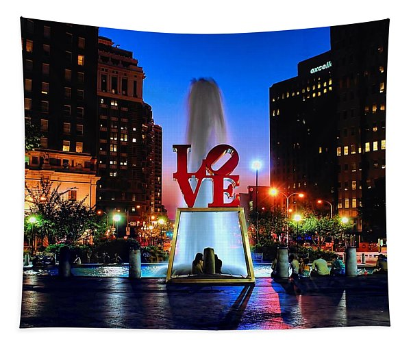 Love At Night Tapestry