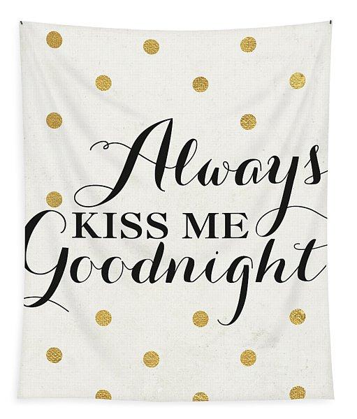 Love Words Black II Tapestry