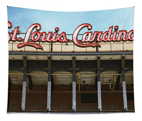 Low Angle View Of The Busch Stadium Tapestry
