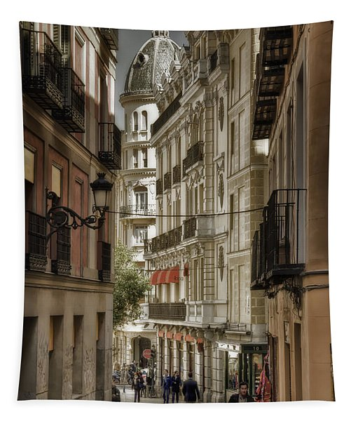 Madrid Streets Tapestry