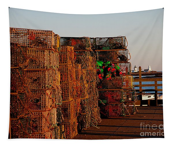 Maine Traps Tapestry
