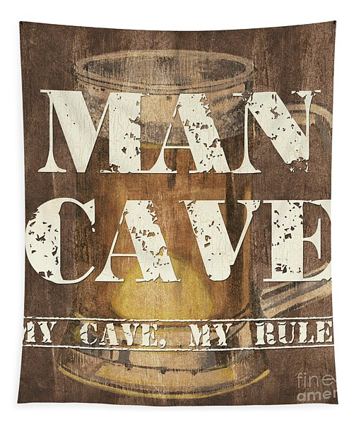 Man Cave My Cave My Rules Tapestry
