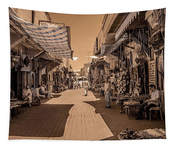 Marrackech Souk At Noon Tapestry