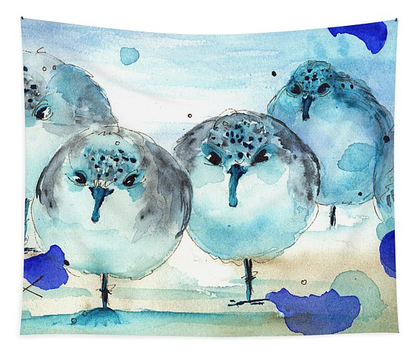 Meet The Sanderlings Tapestry