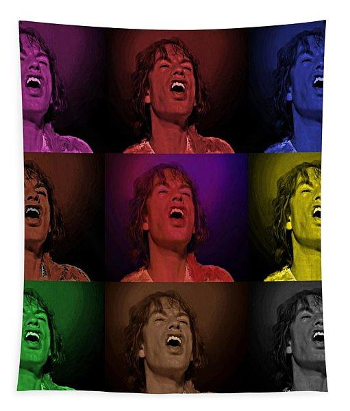 Mick Jagger Pop Art Print Tapestry