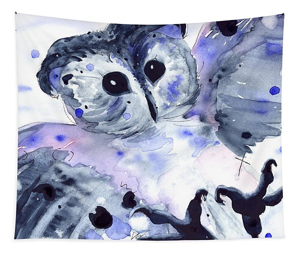 Midnight Owl Tapestry
